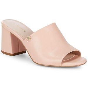 Cole Haan Daina Mules 9 Pink Leather Slides Heels